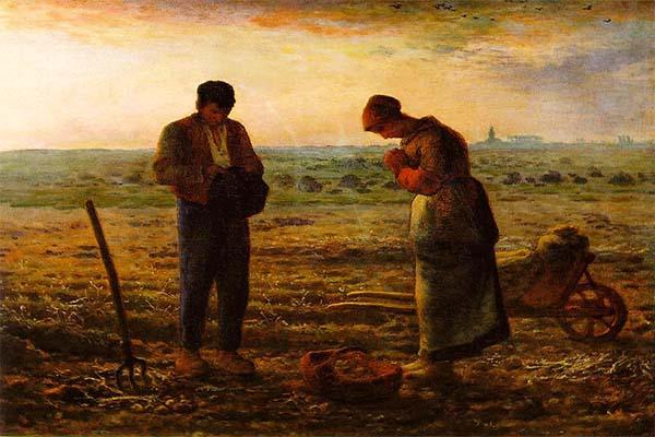 Image result for Đọc kinh Truyền Tin (1857-1859) tranh của Họa sĩ người Pháp Jean-François Millet